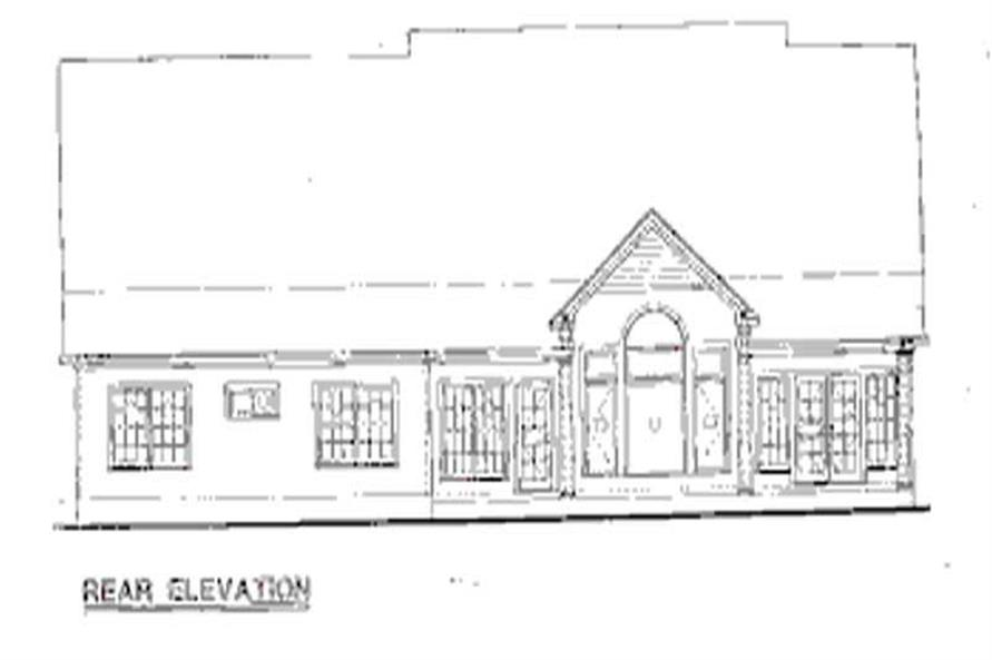 Home Plan Rear Elevation of this 3-Bedroom,2256 Sq Ft Plan -120-1971