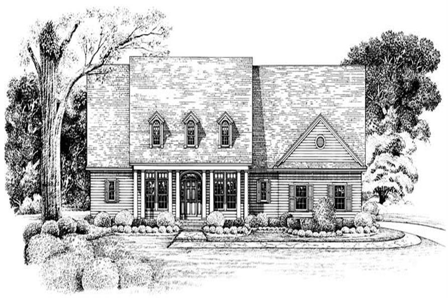 Home Plan Rendering of this 3-Bedroom,2256 Sq Ft Plan -120-1971