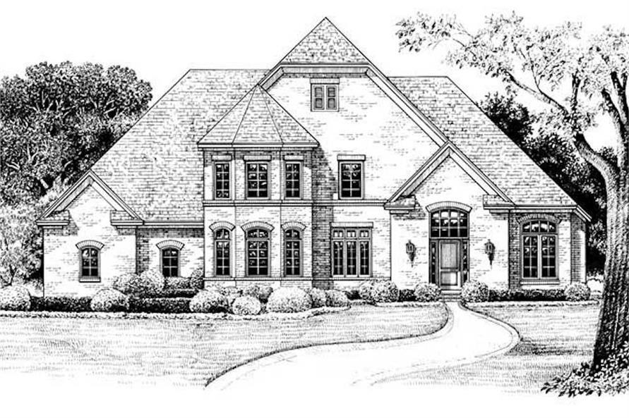 120-1972: Home Plan Rendering-Front Door