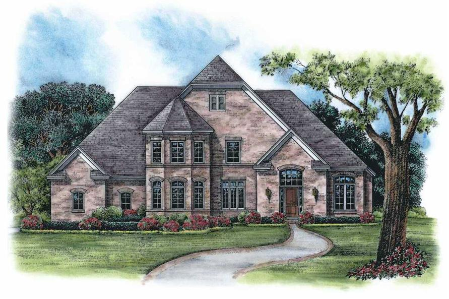 3-Bedroom, 2371 Sq Ft French House Plan - 120-1972 - Front Exterior