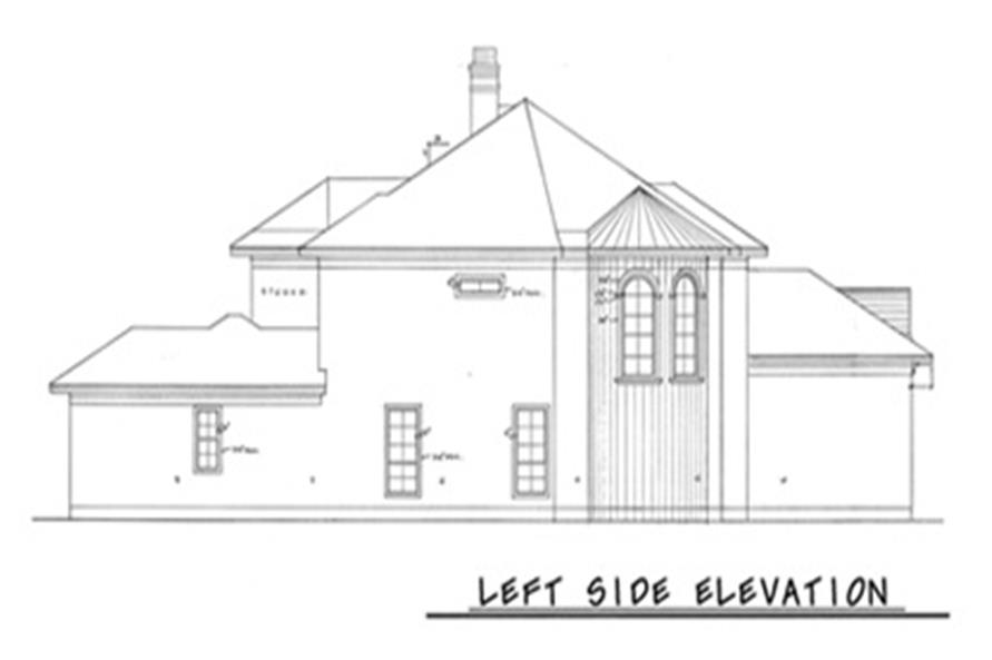 Home Plan Left Elevation of this 4-Bedroom,3894 Sq Ft Plan -120-1973