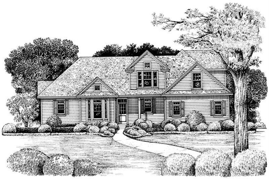 Home Plan Rendering of this 3-Bedroom,1902 Sq Ft Plan -120-1974