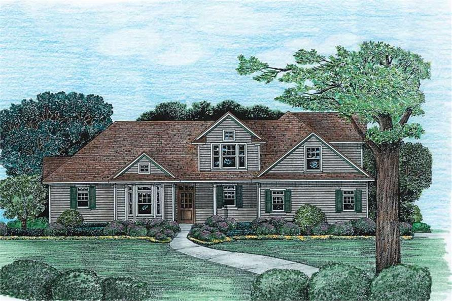 3-Bedroom, 1902 Sq Ft Country House Plan - 120-1974 - Front Exterior