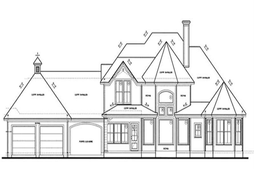 Home Plan Rear Elevation of this 4-Bedroom,2576 Sq Ft Plan -120-1976