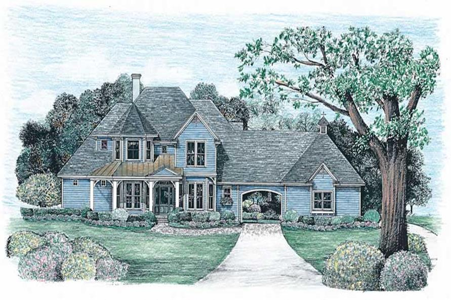 4-Bedroom, 2576 Sq Ft Country House Plan - 120-1976 - Front Exterior