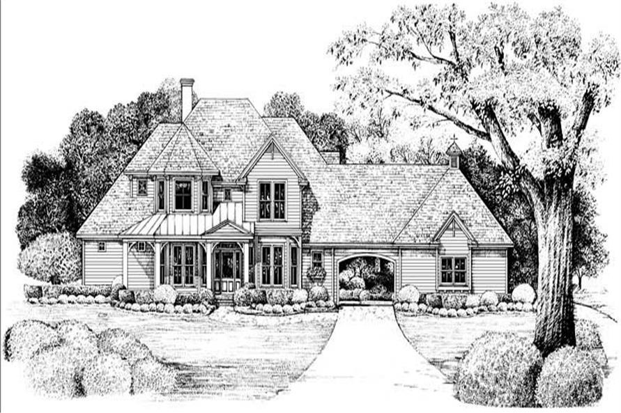 Front Elevation of this 4-Bedroom,2576 Sq Ft Plan -2576