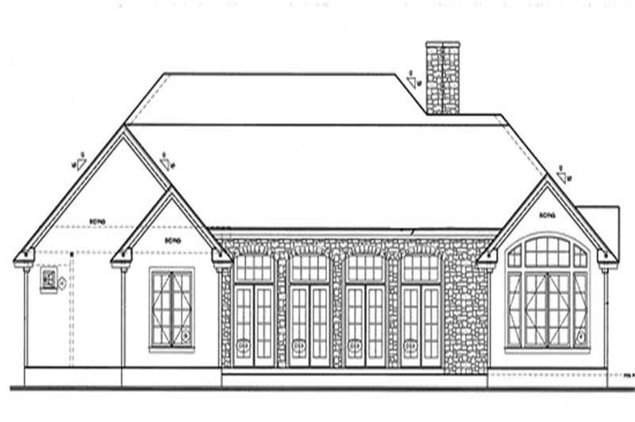 Home Plan Rear Elevation of this 3-Bedroom,2203 Sq Ft Plan -120-1977