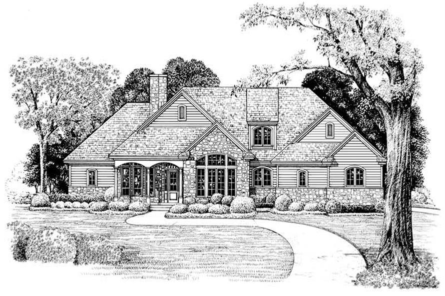 Home Plan Rendering of this 3-Bedroom,2203 Sq Ft Plan -120-1977