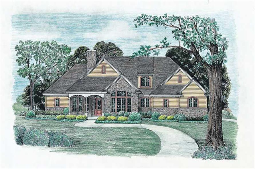 3-Bedroom, 2203 Sq Ft Ranch House Plan - 120-1977 - Front Exterior