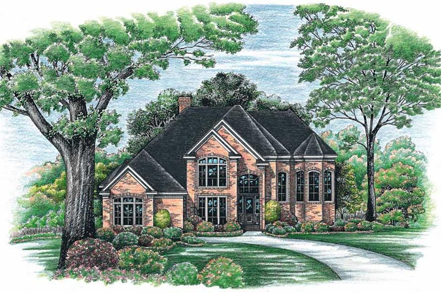 5-Bedroom, 3517 Sq Ft Luxury Home Plan - 120-1980 - Main Exterior