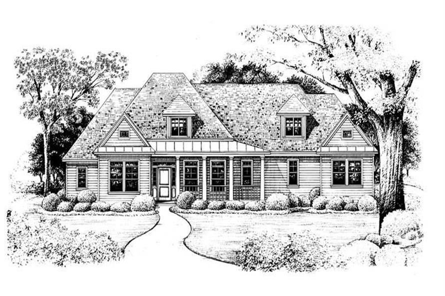 Home Plan Rendering of this 4-Bedroom,2040 Sq Ft Plan -120-1981