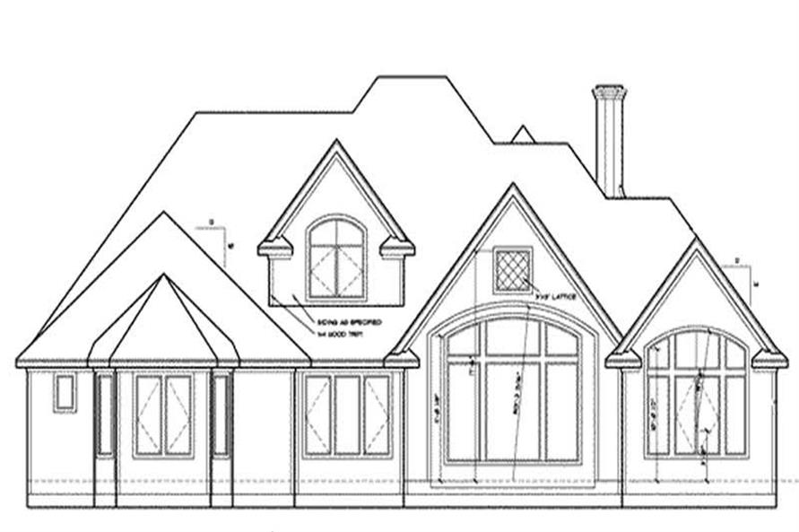 Home Plan Rear Elevation of this 4-Bedroom,2639 Sq Ft Plan -120-1983