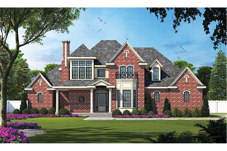 4-Bedroom, 2639 Sq Ft European Home - Plan #120-1983 - Main Exterior