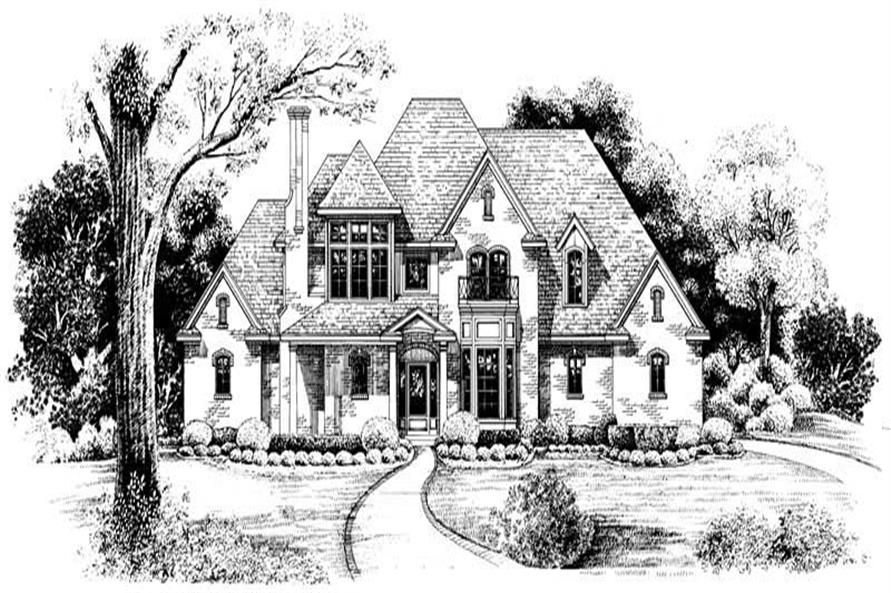 Home Plan Rendering of this 4-Bedroom,2639 Sq Ft Plan -120-1983