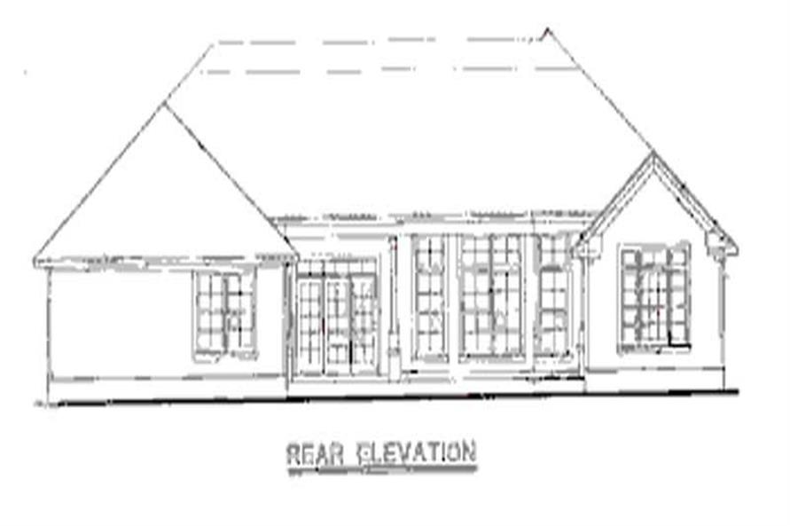 Home Plan Rear Elevation of this 3-Bedroom,2393 Sq Ft Plan -120-1984