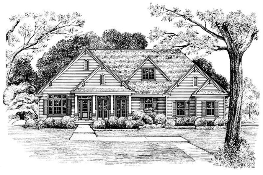 Home Plan Rendering of this 3-Bedroom,2393 Sq Ft Plan -120-1984