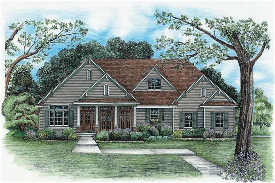 3-Bedroom, 2393 Sq Ft Ranch House Plan - 120-1984 - Front Exterior