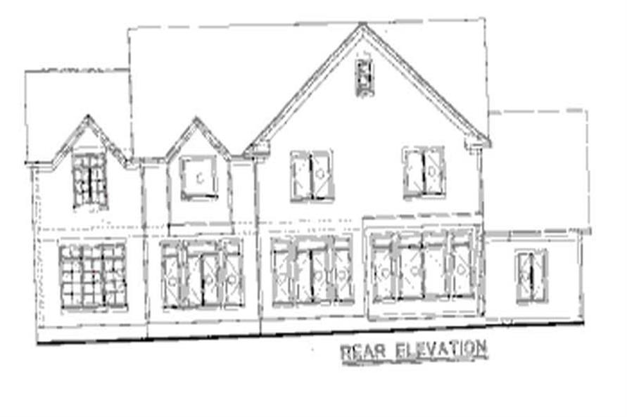 Home Plan Rear Elevation of this 4-Bedroom,2705 Sq Ft Plan -120-1985