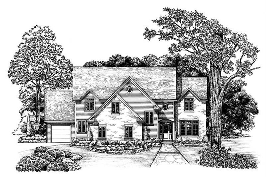 4-Bedroom, 2705 Sq Ft Country Home Plan - 120-1985 - Main Exterior