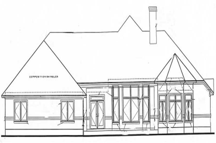 Home Plan Rear Elevation of this 3-Bedroom,2517 Sq Ft Plan -120-1986