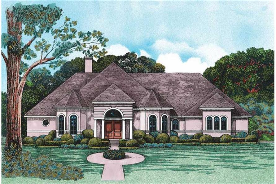 120-1986: Home Plan Rendering