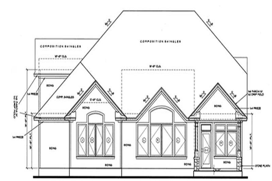 Home Plan Rear Elevation of this 4-Bedroom,2939 Sq Ft Plan -120-1987