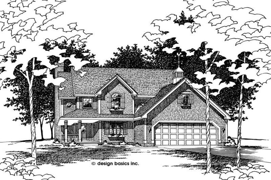 3-Bedroom, 1792 Sq Ft Small House Plans - 120-1991 - Main Exterior