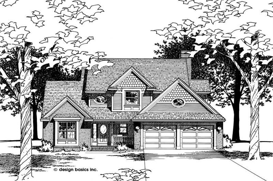 Home Plan Rendering of this 3-Bedroom,1992 Sq Ft Plan -120-1992