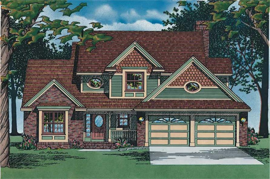 3-Bedroom, 1992 Sq Ft Traditional Home Plan - 120-1992 - Main Exterior