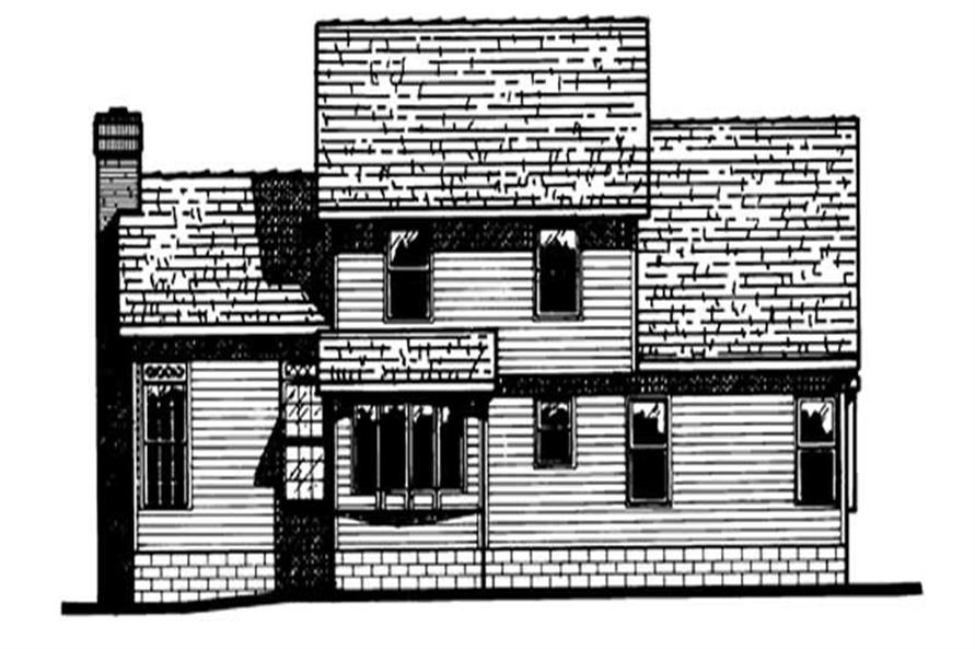 Home Plan Rear Elevation of this 4-Bedroom,1788 Sq Ft Plan -120-1993