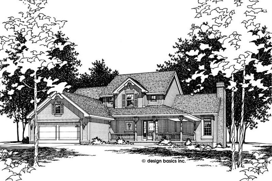 Front Elevation of this 4-Bedroom,1788 Sq Ft Plan -1788