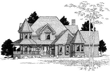 4-Bedroom, 3650 Sq Ft Country Home Plan - 120-1995 - Main Exterior