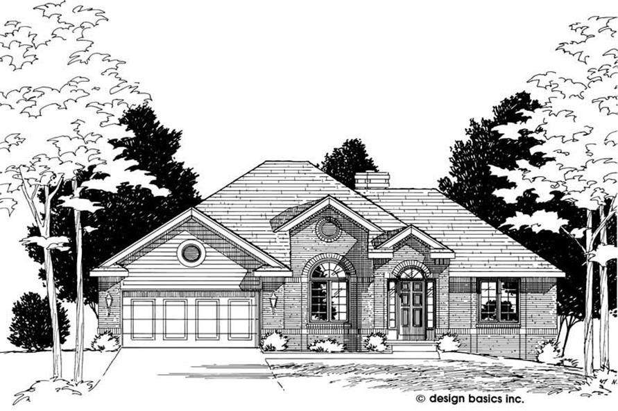 Home Plan Rendering of this 3-Bedroom,1782 Sq Ft Plan -120-1997