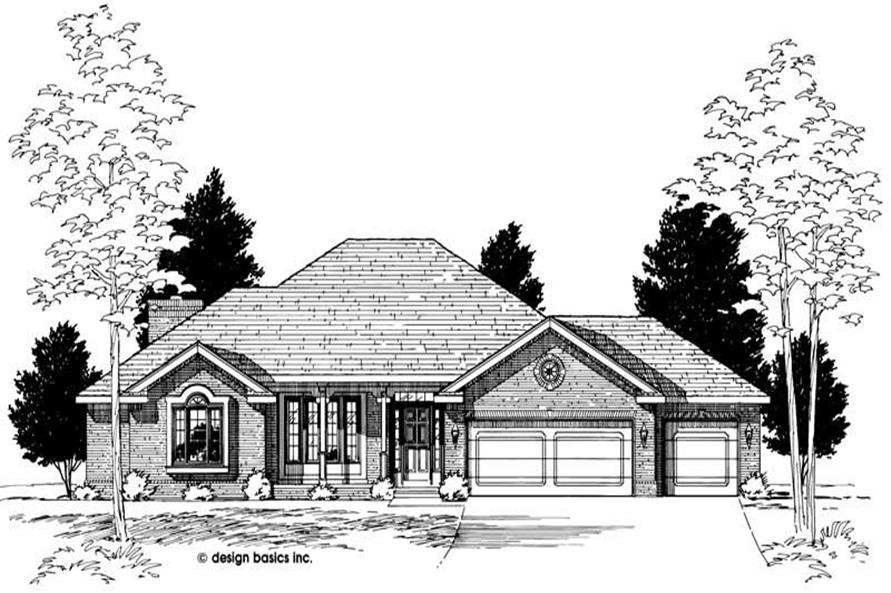 Home Plan Rendering of this 3-Bedroom,2132 Sq Ft Plan -120-1998