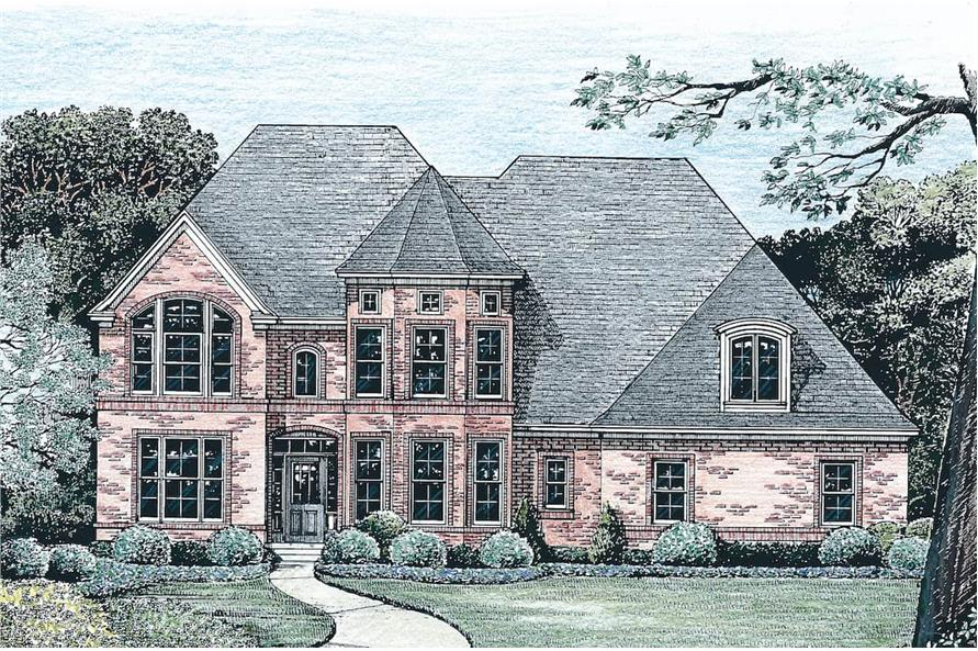 Front View of this 4-Bedroom,2777 Sq Ft Plan -120-2001