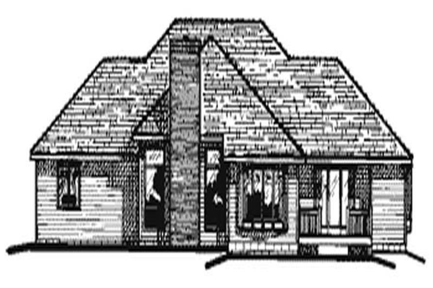 Home Plan Rear Elevation of this 4-Bedroom,2366 Sq Ft Plan -120-2005