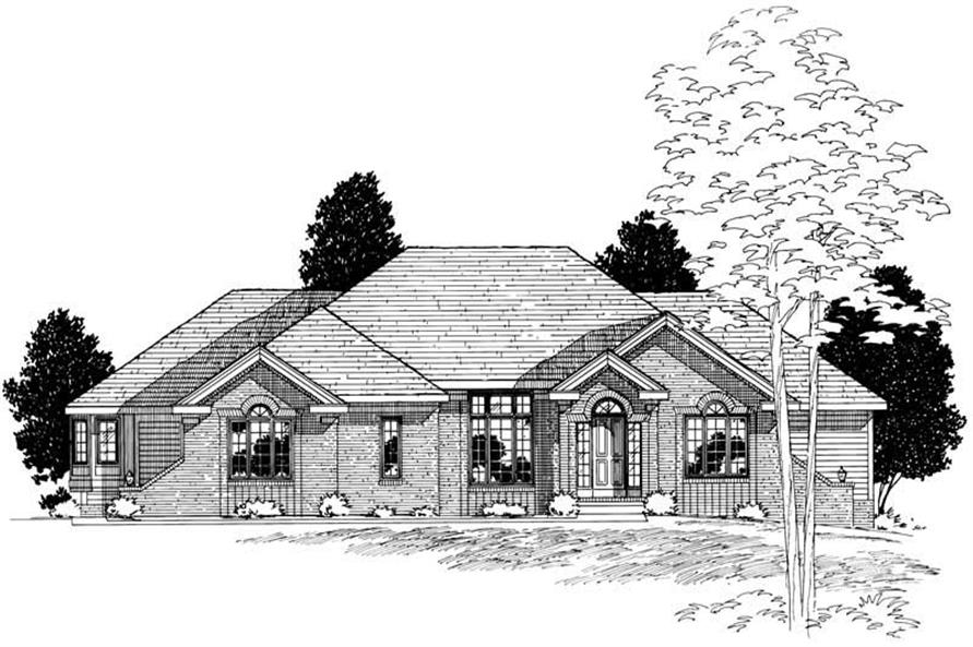 4-Bedroom, 2366 Sq Ft Ranch Home Plan - 120-2005 - Main Exterior