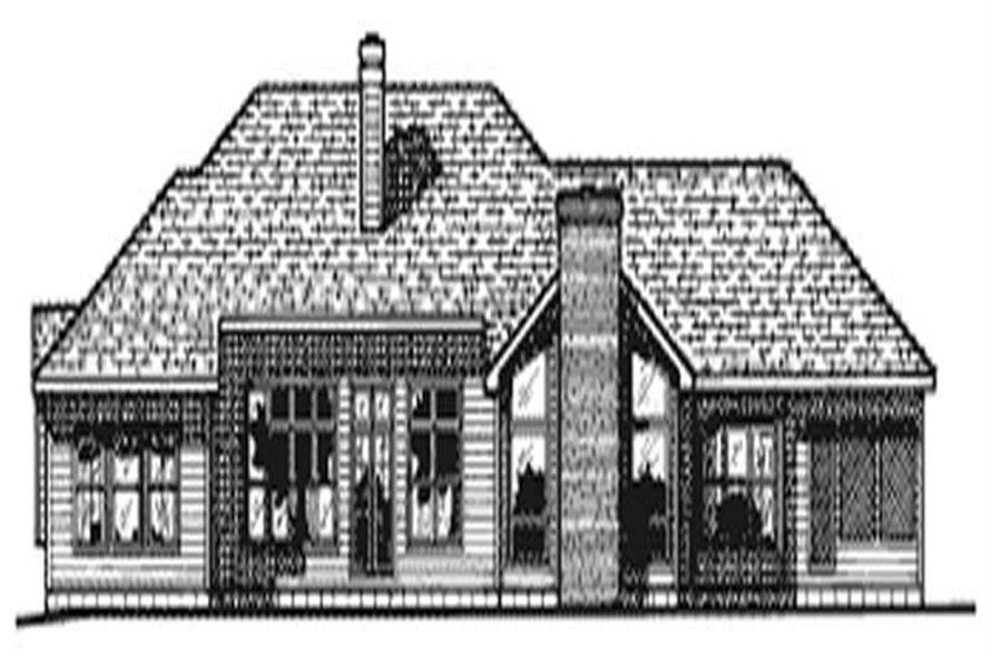 Home Plan Rear Elevation of this 3-Bedroom,2504 Sq Ft Plan -120-2006