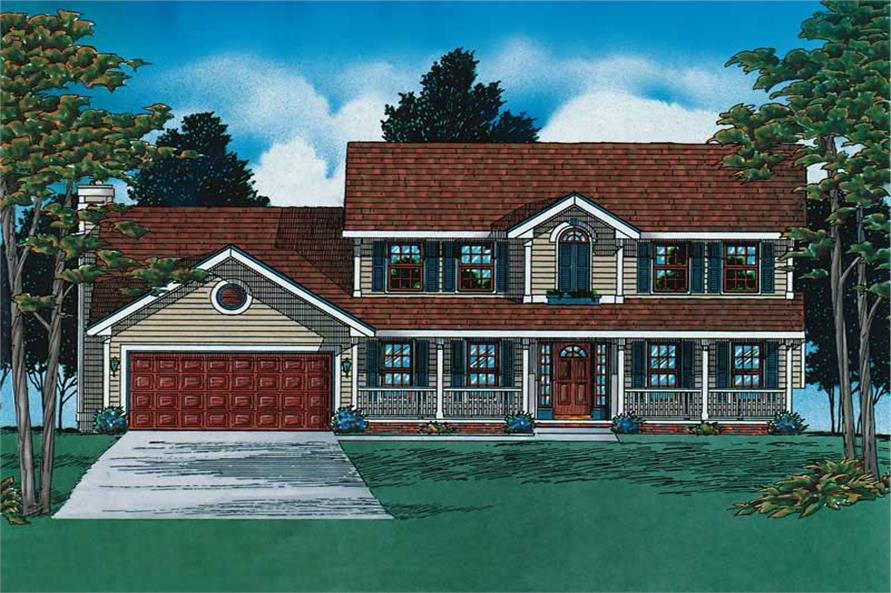 Main image for house plan # 6160