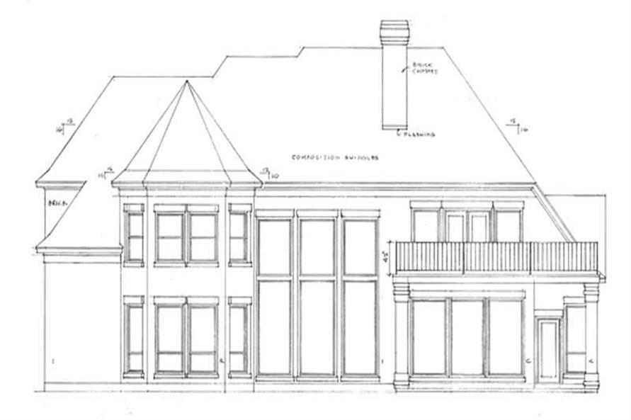 Home Plan Rear Elevation of this 3-Bedroom,3397 Sq Ft Plan -120-2009
