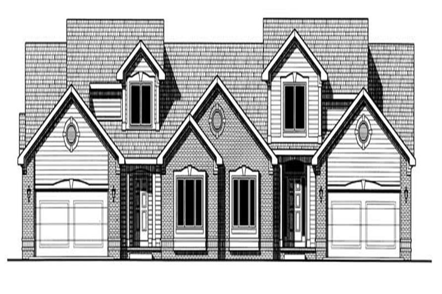 Home Plan Rendering of this 3-Bedroom,1772 Sq Ft Plan -120-2015