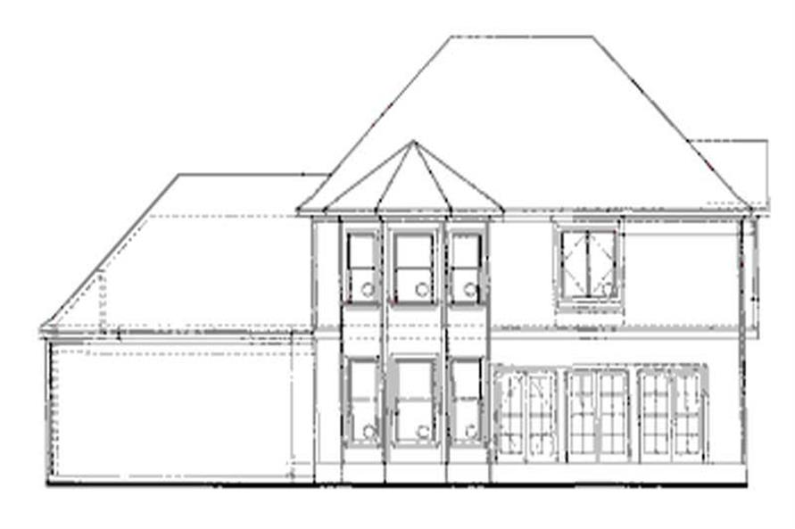Home Plan Rear Elevation of this 4-Bedroom,2630 Sq Ft Plan -120-2017