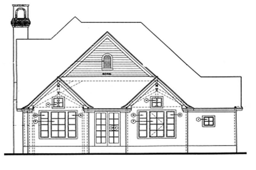 Home Plan Rear Elevation of this 3-Bedroom,2114 Sq Ft Plan -120-2018