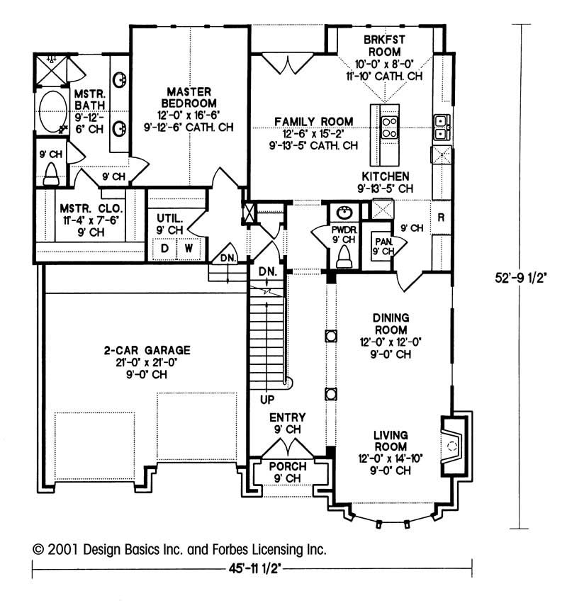 House plan 120 2018 3 bedroom 2114 sq ft european for Main level floor plans
