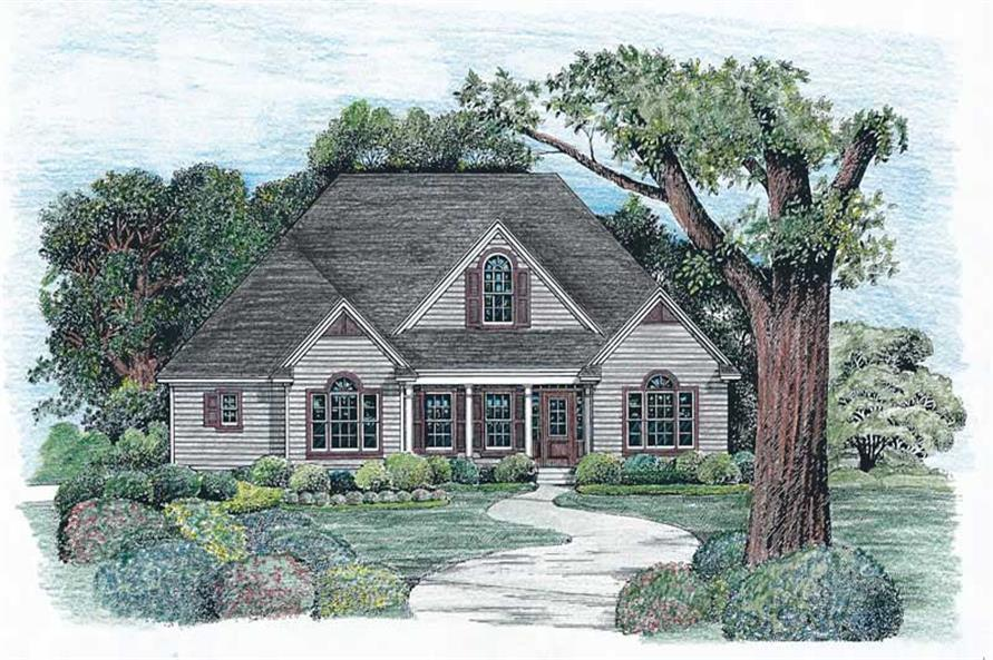 3-Bedroom, 1819 Sq Ft Country House Plan - 120-2021 - Front Exterior