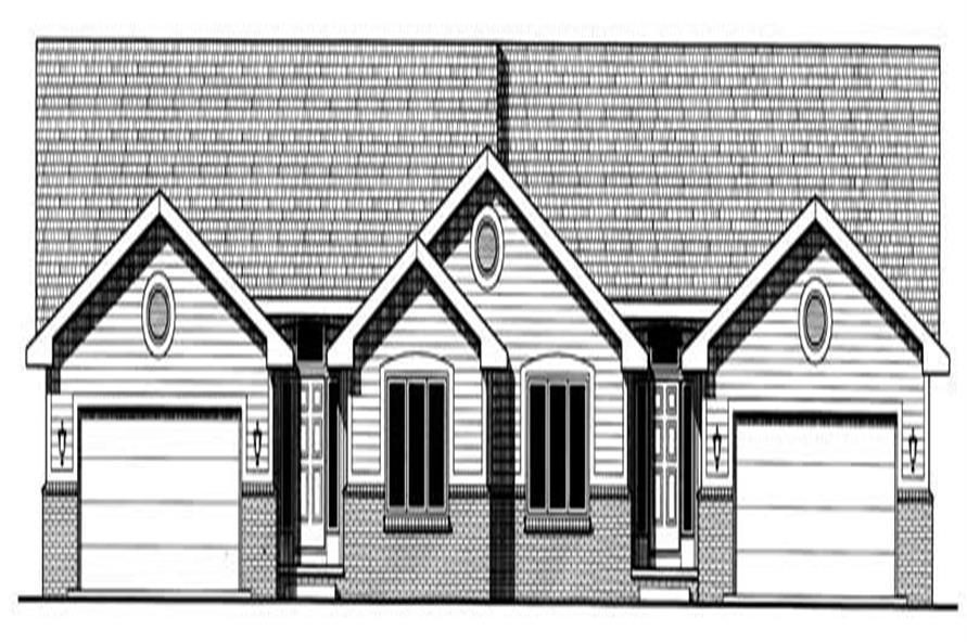 Home Plan Rendering of this 4-Bedroom,2261 Sq Ft Plan -120-2023