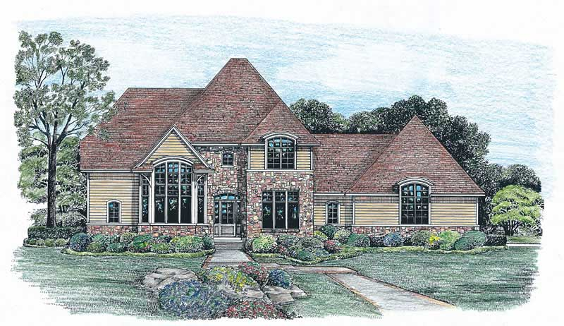 House plan 120 2029 4 bedroom 2508 sq ft european for French european house plans