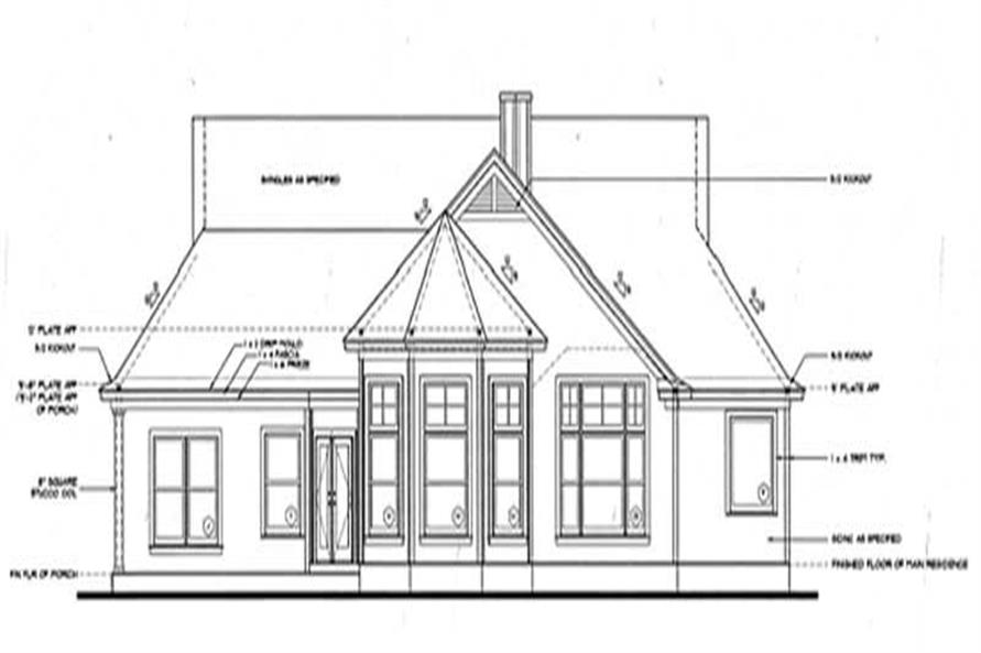 Home Plan Rear Elevation of this 3-Bedroom,1926 Sq Ft Plan -120-2030