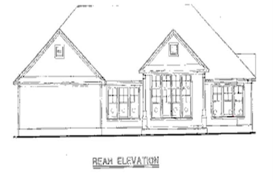Home Plan Rear Elevation of this 3-Bedroom,1876 Sq Ft Plan -120-2031