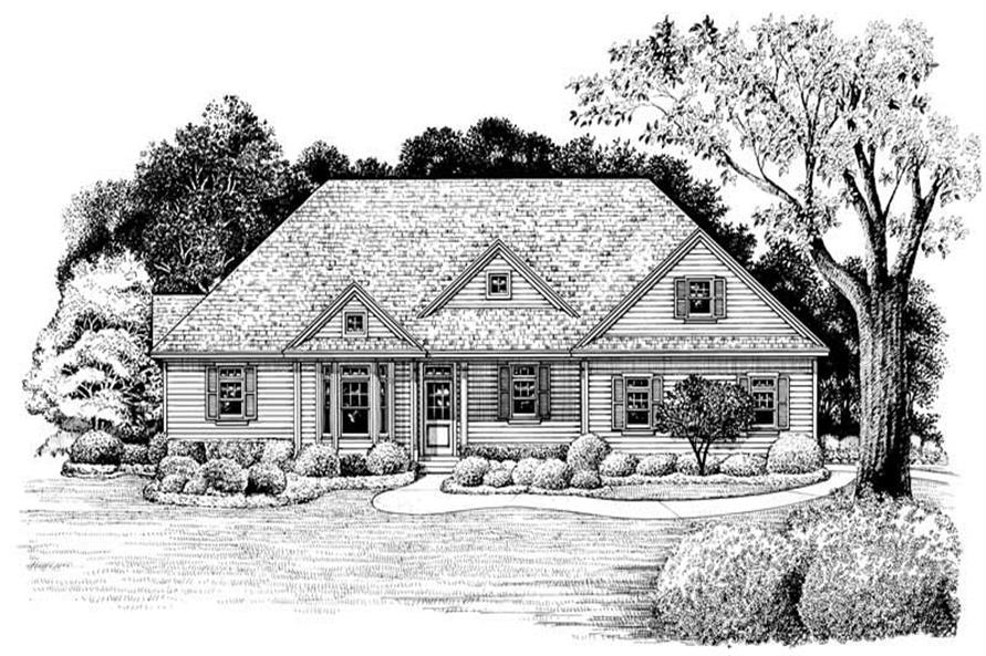 Home Plan Rendering of this 3-Bedroom,1876 Sq Ft Plan -120-2031